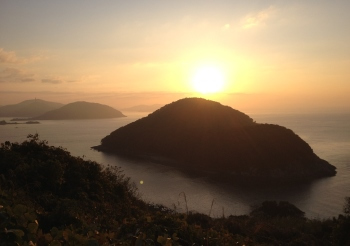 大津島から見た日の出