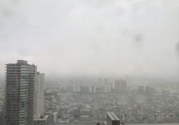 5/22昼頃、豪雨に見舞われた川崎近辺