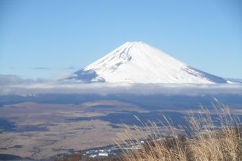 滝知山園地から撮影した富士山